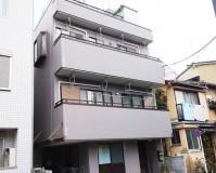 東京都新宿区3階建て住宅のタイル撥水工事・屋根塗装工事の施工事例(2020/06/18)
