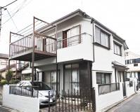 東京都足立区の二階建て住宅の外壁塗装工事の施工事例(2020/07/16)