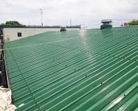 東京都足立区倉庫の折板屋根塗装工事の施工事例(20200728)