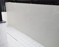東京都世田谷区の擁壁塗装工事の施工事例(20200824)