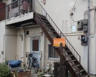 東京都江戸川区アパートの鉄骨階段塗装工事の施工事例(20200903)