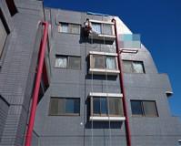 東京都足立区マンションの雨漏り修繕ブランコ作業の施工事例(20200908)
