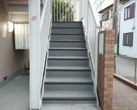神奈川県川崎市アパートの鉄骨階段長尺シート・塗装工事の施工事例(20200930)