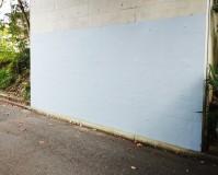 埼玉県所沢市の落書き落とし壁面塗装工事の施工事例(20201030)