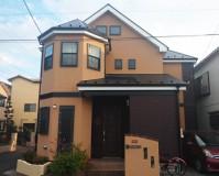 埼玉県春日部市の2階建住宅の外壁塗装工事の施工事例(20201112)