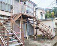 神奈川県横浜市戸塚区アパートの鉄骨階段・防塵塗装の施工事例(20201221)