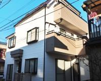 東京都足立区の三階建て住宅の外壁塗装工事の施工事例(2021/0106)
