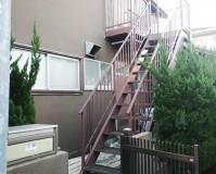 東京都杉並区アパート鉄骨階段のサビ止め塗装工事の施工事例(20210115)