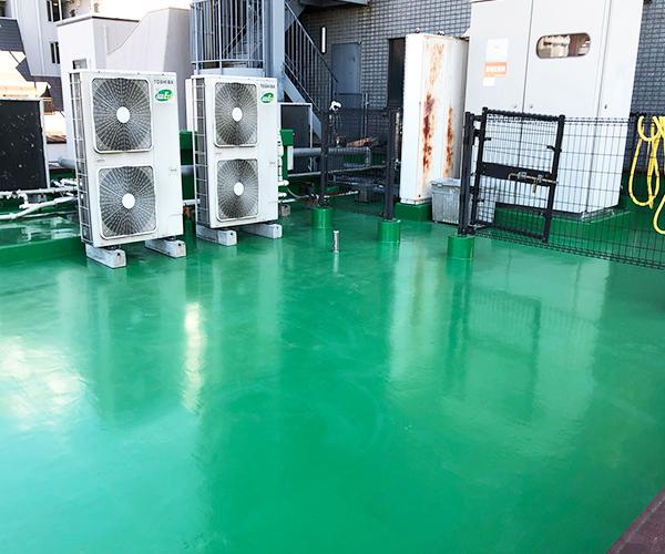 東京都文京区会社ビルの屋上防水工事の施工事例(20210127)