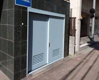 千葉県千葉市のマンションゴミ庫扉塗装工事の施工事例(20210513)