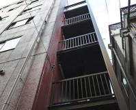 東京都世田谷区マンションの鉄骨階段塗装工事の施工事例(20210906)