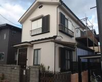 東京都葛飾区2階建住宅の外壁塗装・漆喰工事の施工事例(2021.10.26)